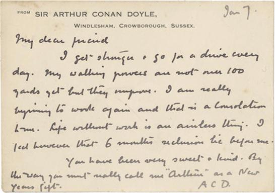 sir arthur conan doyle research paper