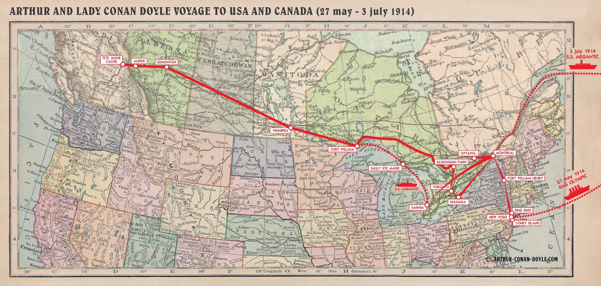 FileMapusacanadajpg The Arthur Conan Doyle Encyclopedia - Map usa and canada