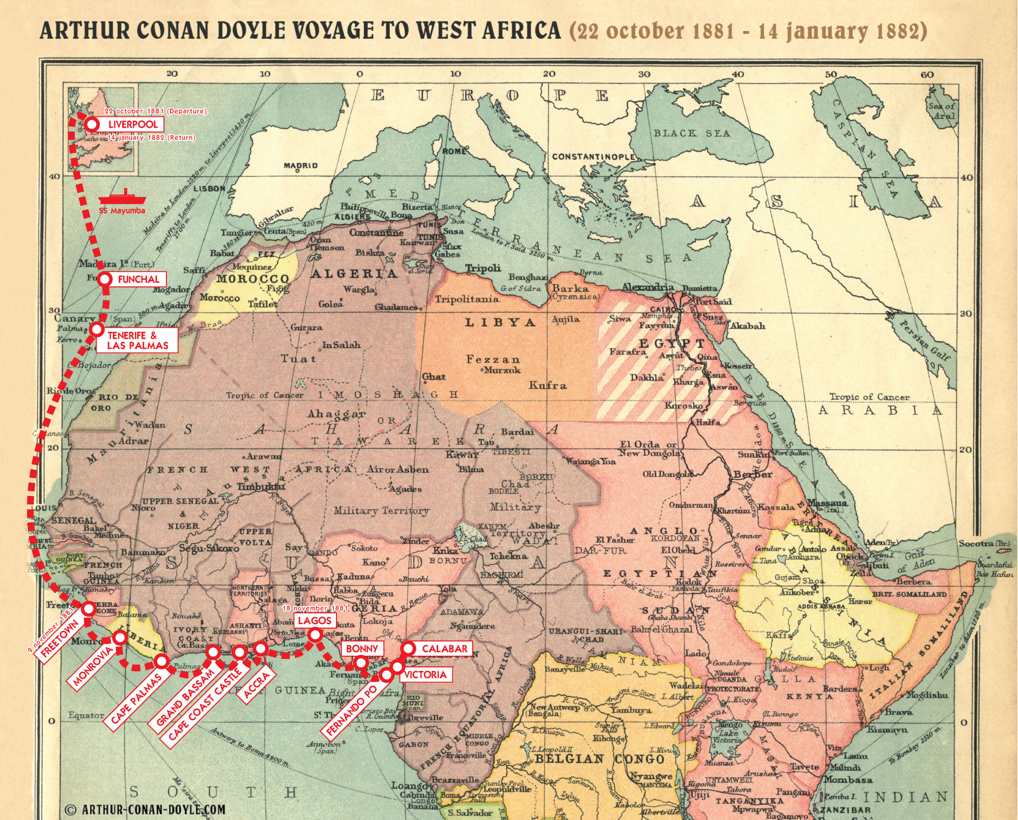 v the voyage to west africa