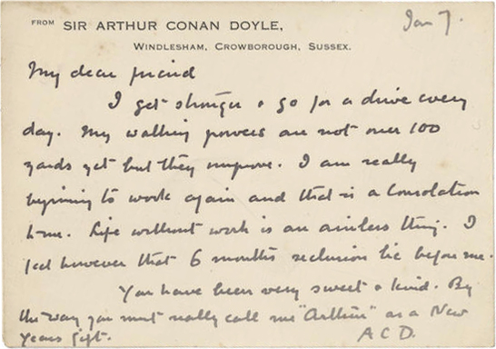 arthur conan doyles stories essay Sir arthur conan doyle's stories about the fictional detective, sherlock holmes have been popular since they first appeared in 1886 explore the reasons behind this enduring popularity sir arthur conan doyle produced a detective in sherlock holmes who was perfect in almost every way his.