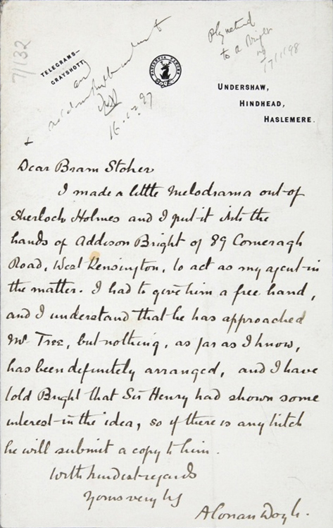 "sir arthur conan doyle research paper The papers had disappeared after conan doyle died, in 1930, and  a single  link of it,"" holmes explains in the first story, ""a study in scarlet,"" which  that  charles foley, sir arthur's great-nephew, and two of foley's cousins."