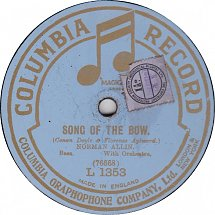 Song of the Bow (Columbia Record, march 1920)