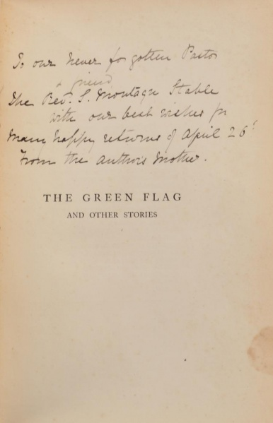 File:Smith-elder-1900-the-green-flag-and-other-stories-signature-mary-doyle.jpg