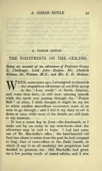 The Footprints on the Ceiling - The Arthur Conan Doyle Encyclopedia