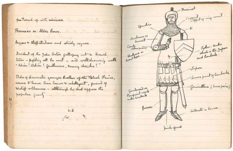 File:Drawing-1889-1890-notebook-the-white-company-knight.jpg