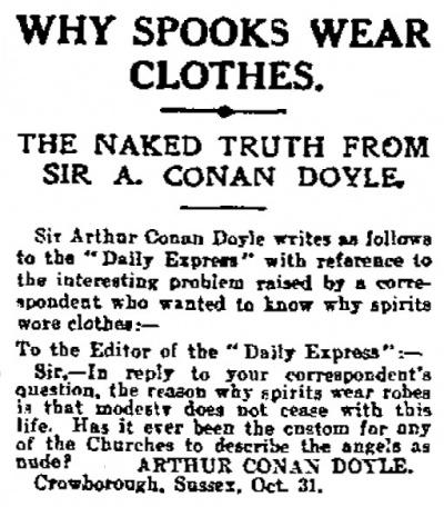 Why Spooks Wear Clothes - The Arthur Conan Doyle Encyclopedia