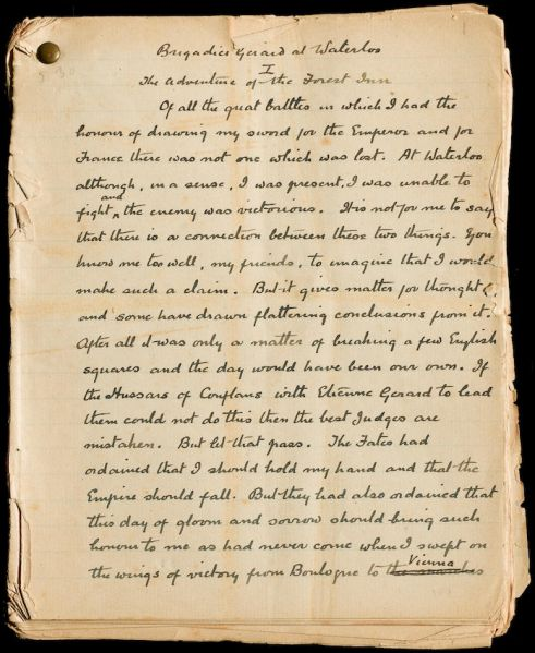 File:Manuscript-brigadier-gerard-at-waterloo-p1.jpg