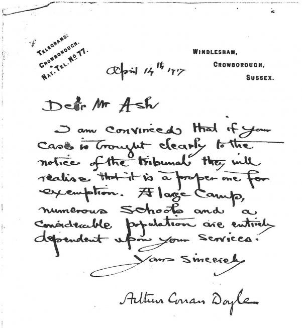 Letters - The Arthur Conan Doyle Encyclopedia