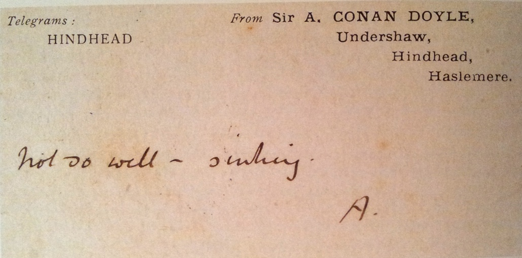 Sir Arthur Conan DoyleLetters The