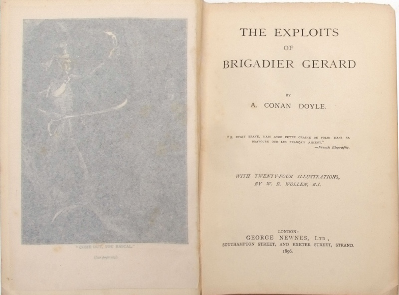 File:George-newnes-1896-the-exploits-of-brigadier-gerard-front.jpg